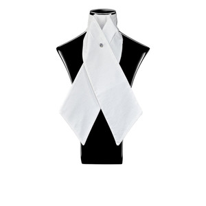 Style Stock Pre-Tied Stock Tie - White Criss Cross