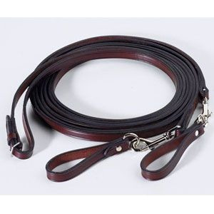 Tory Leather Long Draw Reins w/ Snap Ends