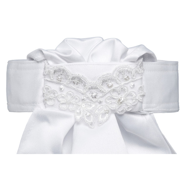 All Tied Up Stock Tie - White Lace