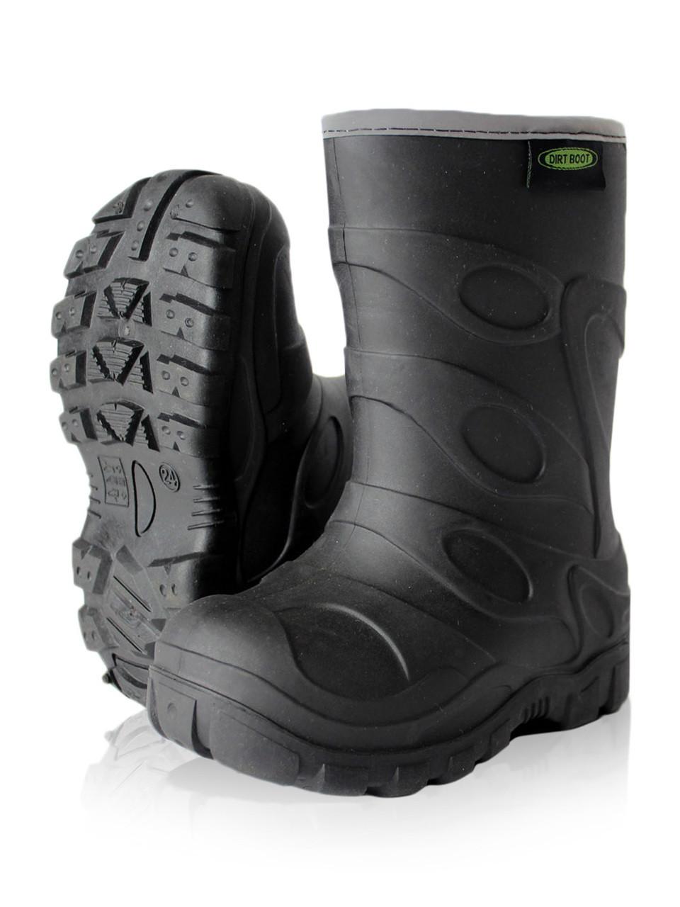 Dirt Boot® Boys Girls Thermal Winter Wellington Muck Field Wellies Kids  Rain Snow Bootie TPR