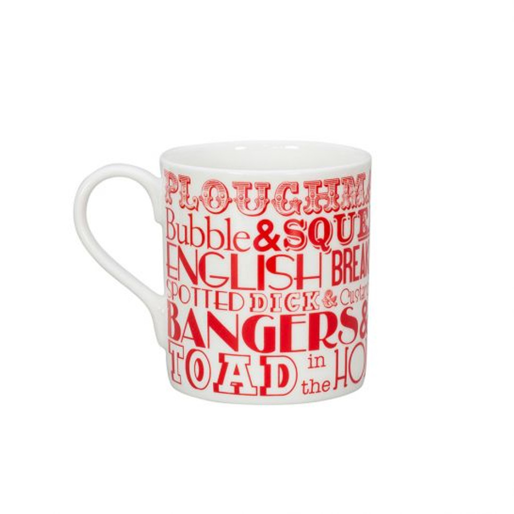 English Dinner Mug - Red