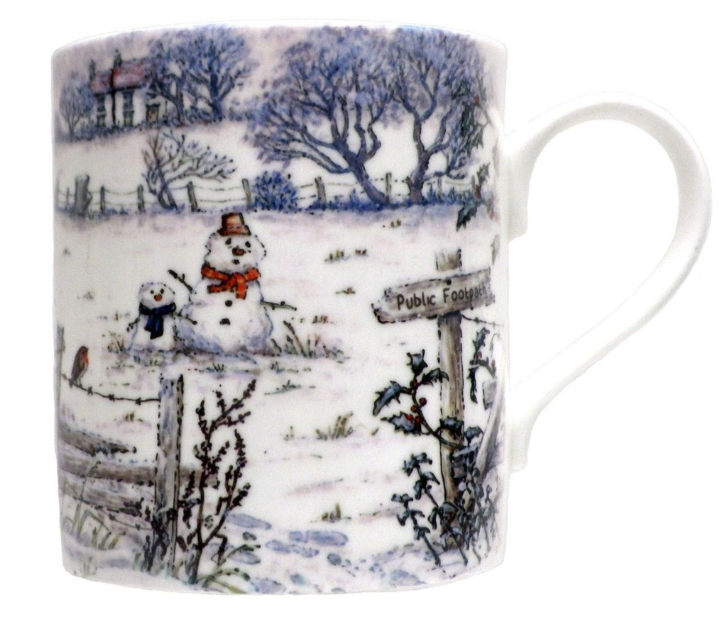 Footprints in the Snow Mug