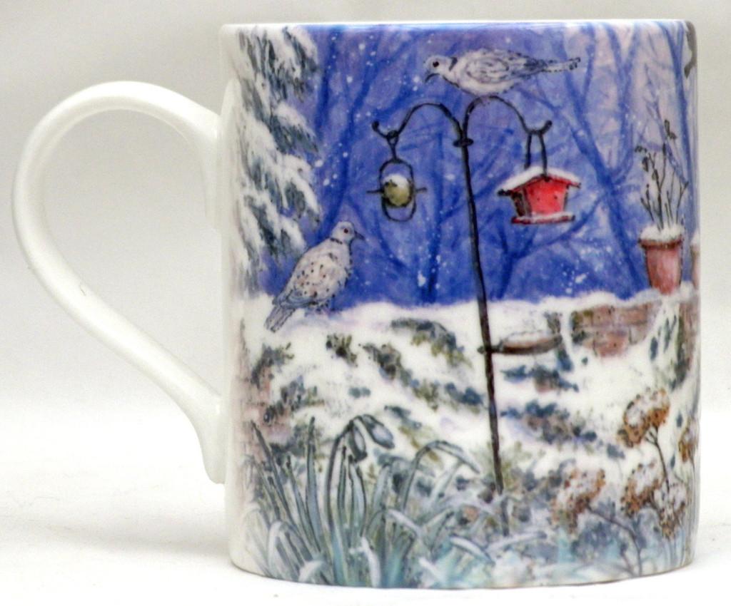 Winter Bird Garden Mug