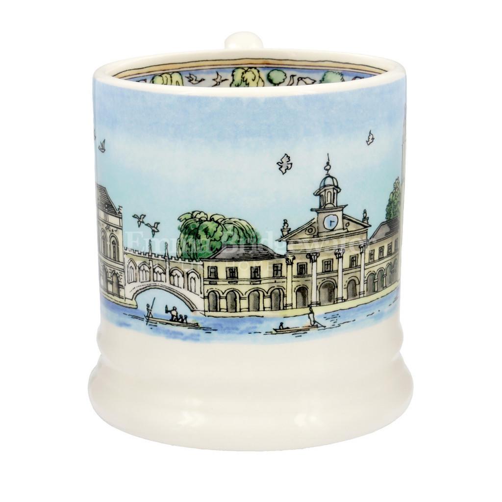 Emma Bridgewater Cambridge pottery half pint mug boxed.