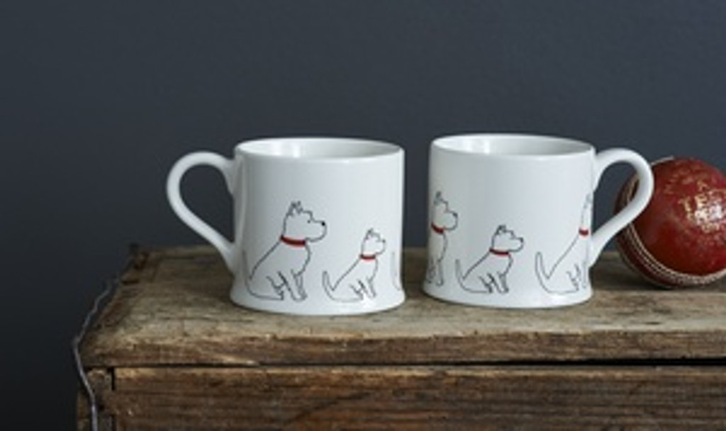 Pottery Westie mug from Sweet William Designs.