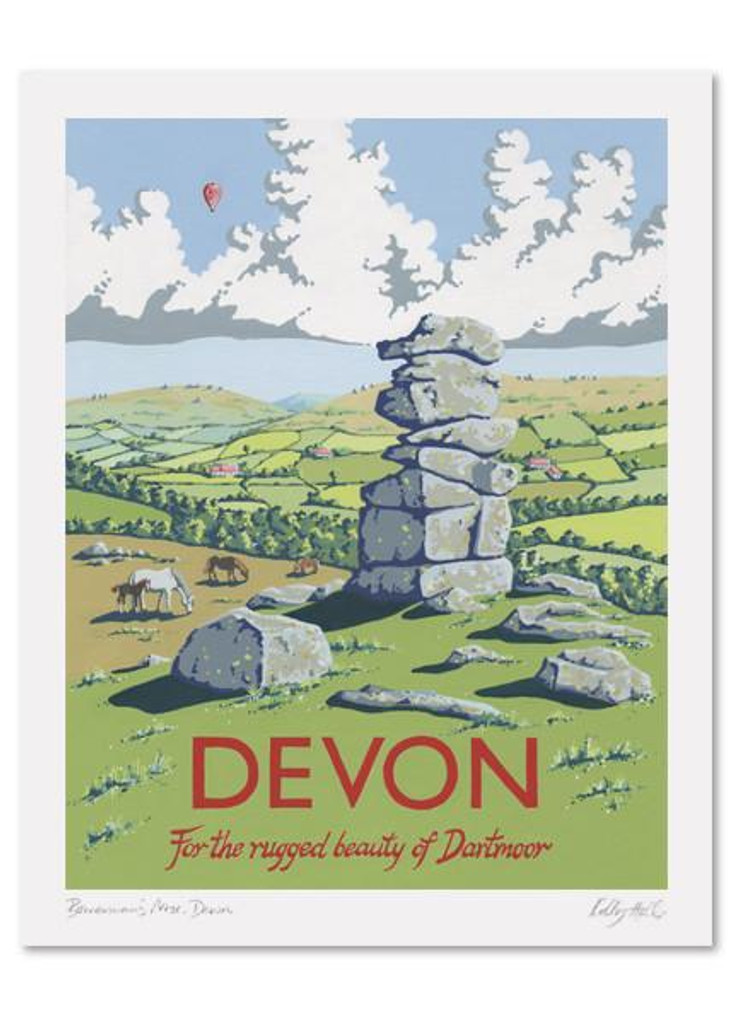Kelly Hall Devon Print. Printed in England.