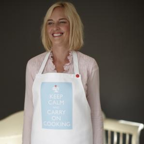 Keep Calm and Carry On Cooking - Blue