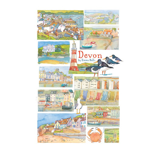 Devon by Emma Ball Tea Towel