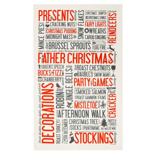 Festive Fun Christmas Tea Towel