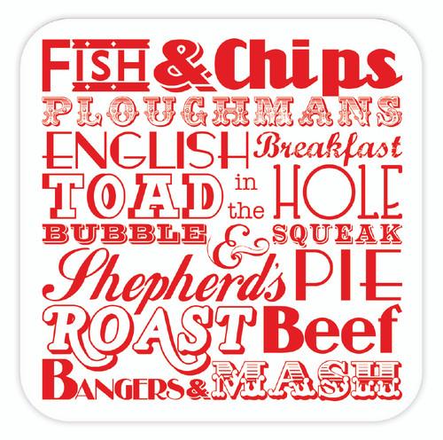 English Dinner Coaster