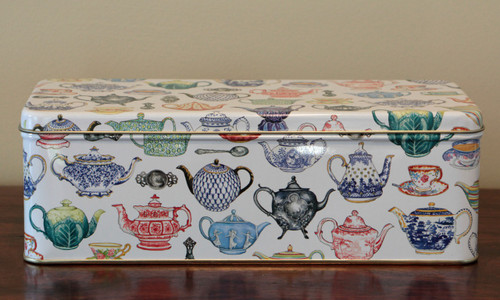 Teapot Rectangular Tin