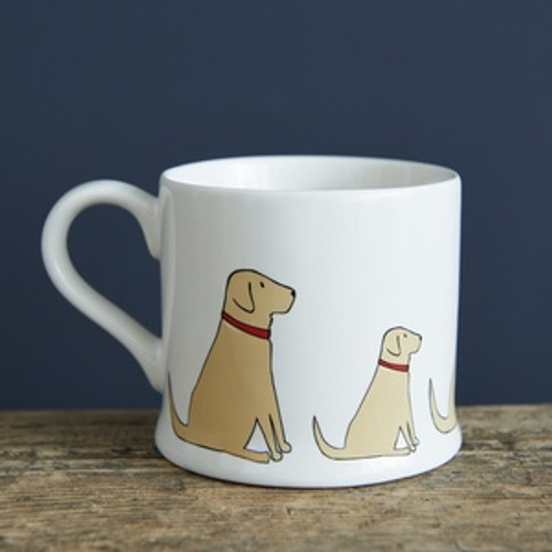 Pottery yellow labrador mug from Sweet William Designs.