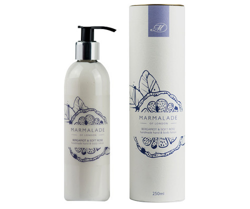 Bergamot & Soft Rose hand & body lotion from Marmalade of London.