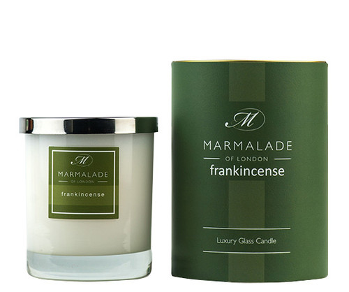 Frankincense glass candle from Marmalade of London.