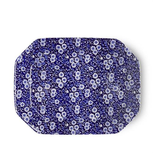 Burleigh Blue Calico Rectangular Dish