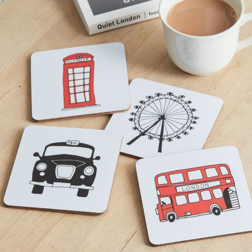 London Skyline Set of 4 Coasters from Victoria Eggs.
