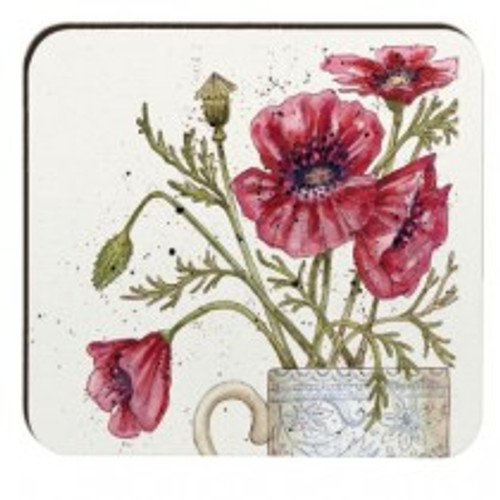 Caroline Cleave Poppies coaster at Emma Ball.