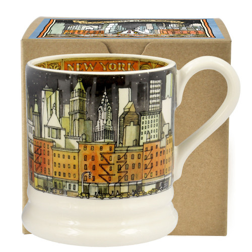 Emma Bridgewater New York City Half Pottery half pint mug boxed.