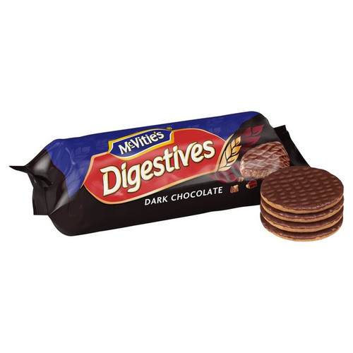 McVitie's Dark Chocolate Digestive Biscuits.