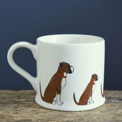 Pottery Boxer mug from Sweet William Designs.