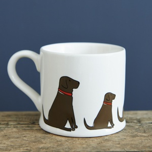Pottery Chocolate Labrador mug from Sweet William Designs.