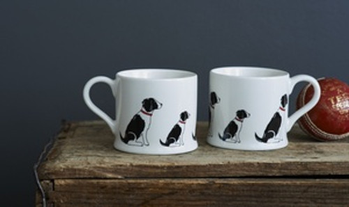 Pottery Springer Spaniel (Black & White) mug from Sweet William Designs.