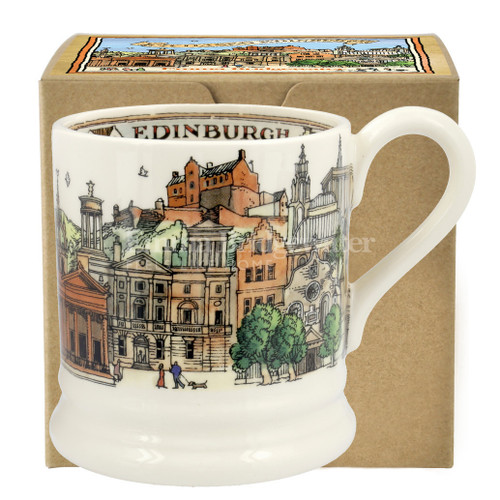 Emma Bridgewater Edinburgh pottery half pint mug boxed.