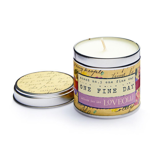 Love Olli One Fine Day scented tin candle. Hand poured in the UK.