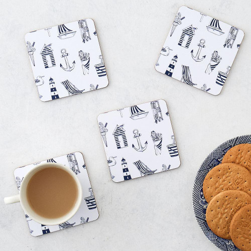 Nautical Set of 4 Coasters from Victoria Eggs.
