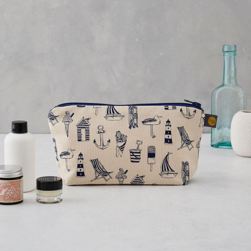 Nautical cosmetic bag/pencil case from Victoria Eggs