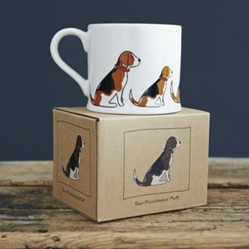 Pottery Beagle mug from Sweet William Designs.