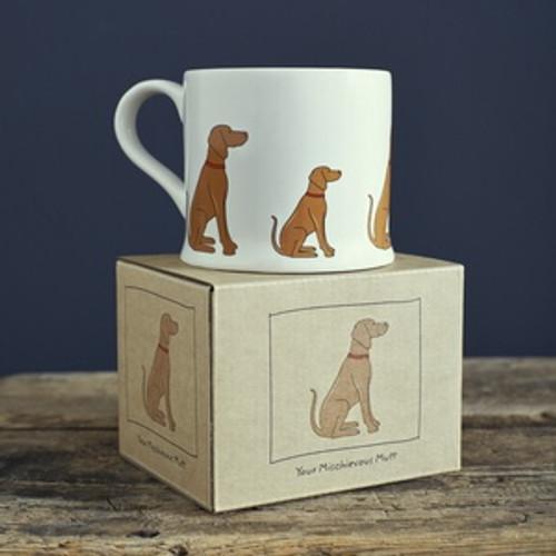 Pottery Vizsla mug from Sweet William Designs.