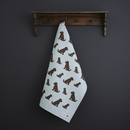 Organic cotton tea towel covered in Cockapoos from Sweet William Designs.
