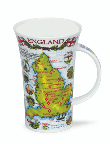 Dunoon fine bone china England mug in the Glencoe shape. Handmade in England.