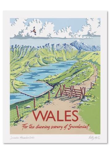 Kelly Hall Wales Print. Printed in England.