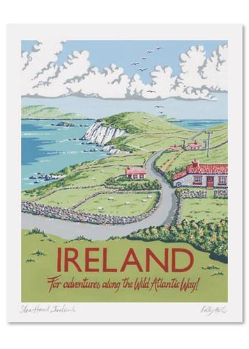 Kelly Hall Ireland Print. Printed in England.
