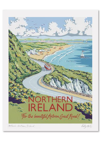 Kelly Hall Northern Ireland Print. Printed in England.
