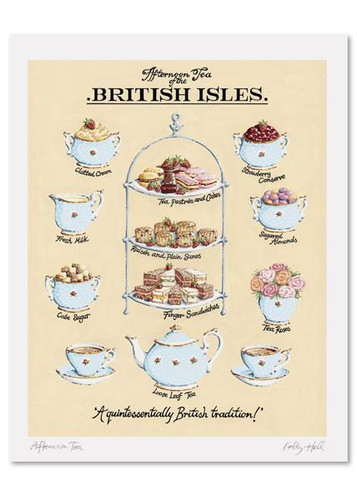 Kelly Hall Afternoon Tea Print. Printed in England.