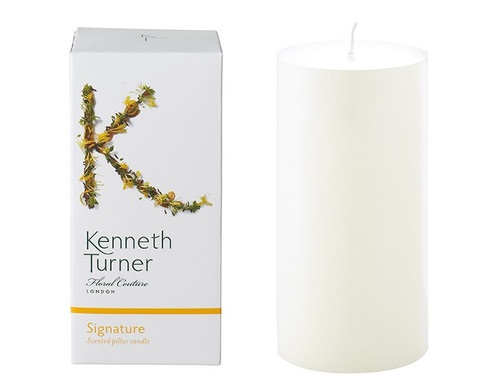 Kenneth Turner Signature fragranced pillar candle.