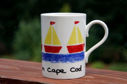 Sailing Boats Mug - Beside the Sea on Cape Cod