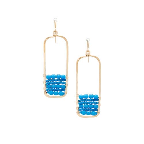 Hammered  Geometric Minimalist Gold Plated Bohemian Earrings / GAE G B144-28