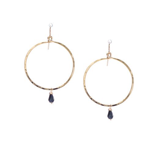 Hammered Boho, Bohemian, Geometric Minimalist Gold Bohemian Earrings / GAE G B105-14
