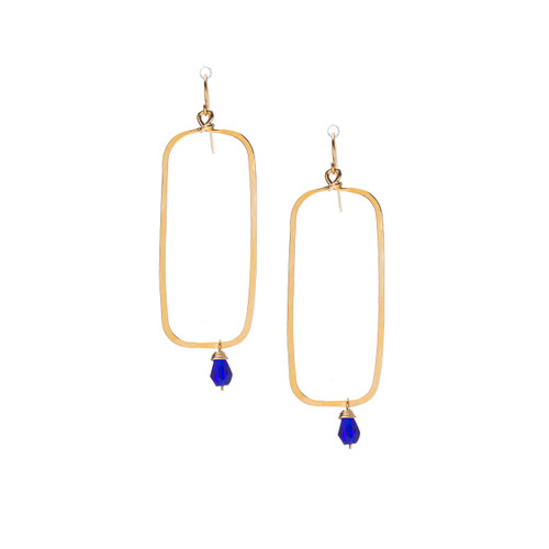 Hammered Boho, Bohemian, Geometric Minimalist Gold Bohemian Earrings / GAE G B255-21