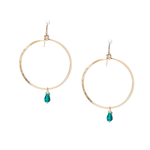 Hammered Boho, Bohemian, Geometric Minimalist Gold Bohemian Earrings / GAE G B103-25