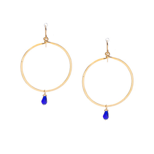 Hammered Boho, Bohemian, Geometric Minimalist Gold Bohemian Earrings / GAE G B105-21