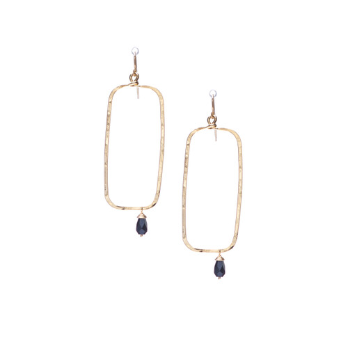 Hammered Boho, Bohemian, Geometric Minimalist Gold Bohemian Earrings / GAE G B255-14