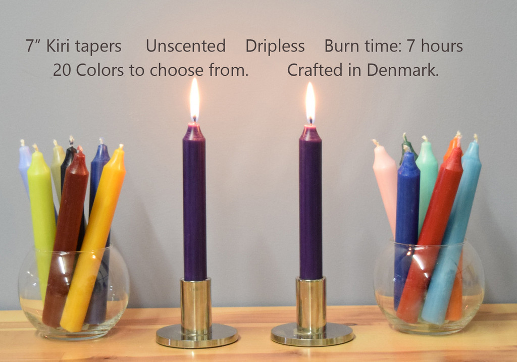 "7"" Danish Kiri Tapers - Pack of 12 per color."