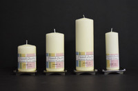 Ivory danish pillar candles in assorted sizes