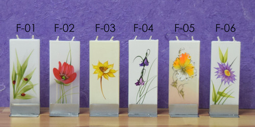FLATYZ Decorative Flat Candles - Flower Collection 1 ($11.50 Each)