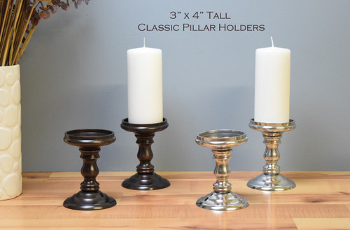 """Classic Pillar Bases / 3"""" x 4"""" tall (Sold by the pair / Free Shipping & 2 free pillars included)"""